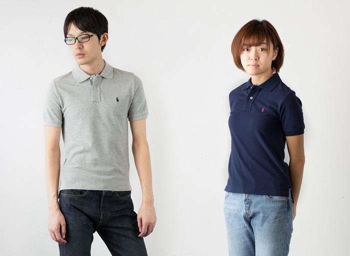 ポロシャツのデニムコーデ